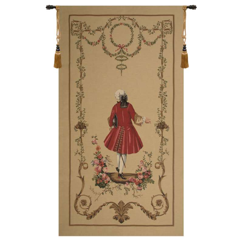 A Gentleman's Departure Large European Tapestry
