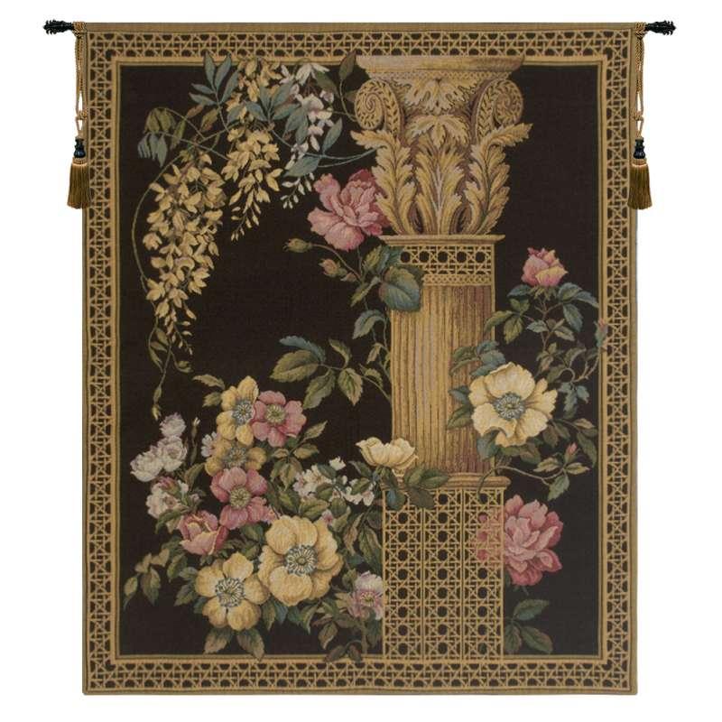 Corinthian Columns Black  European Tapestry