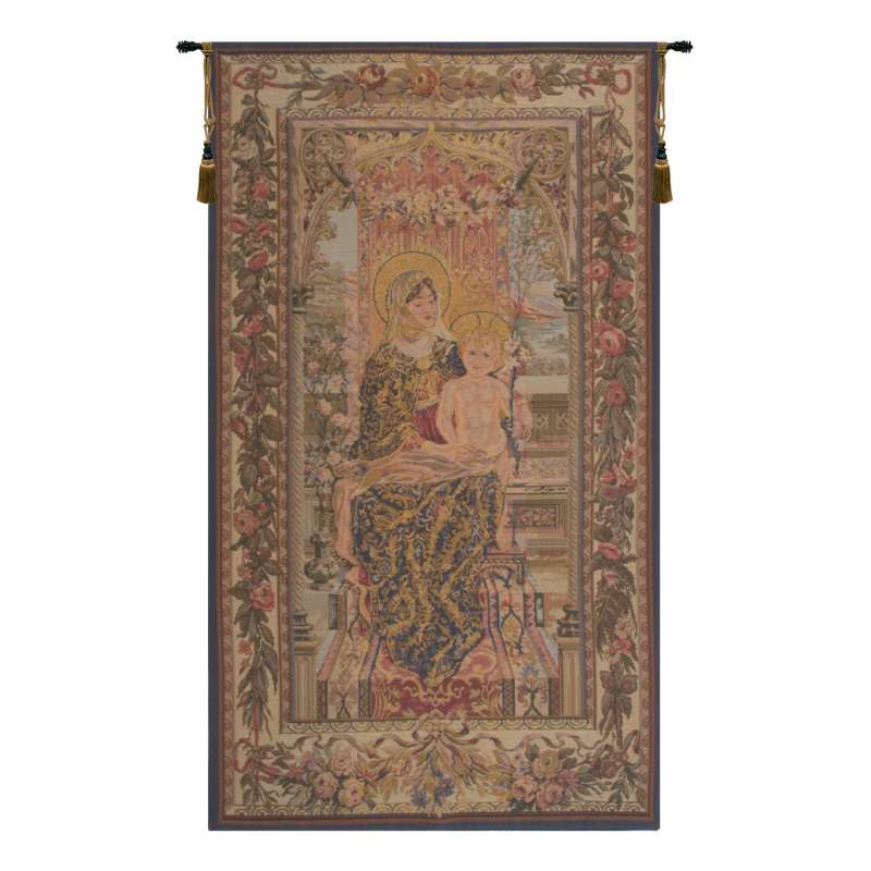 Madonna and Child Seated European Tapestry