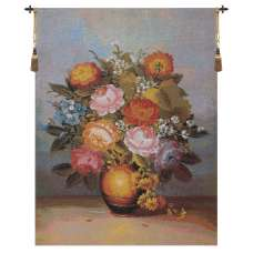 Bouquet Diana Belgian Tapestry Wall Hanging