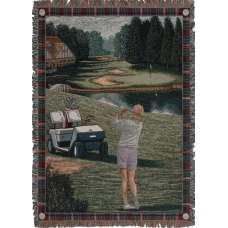 Ladies Golf Tour Tapestry Throw