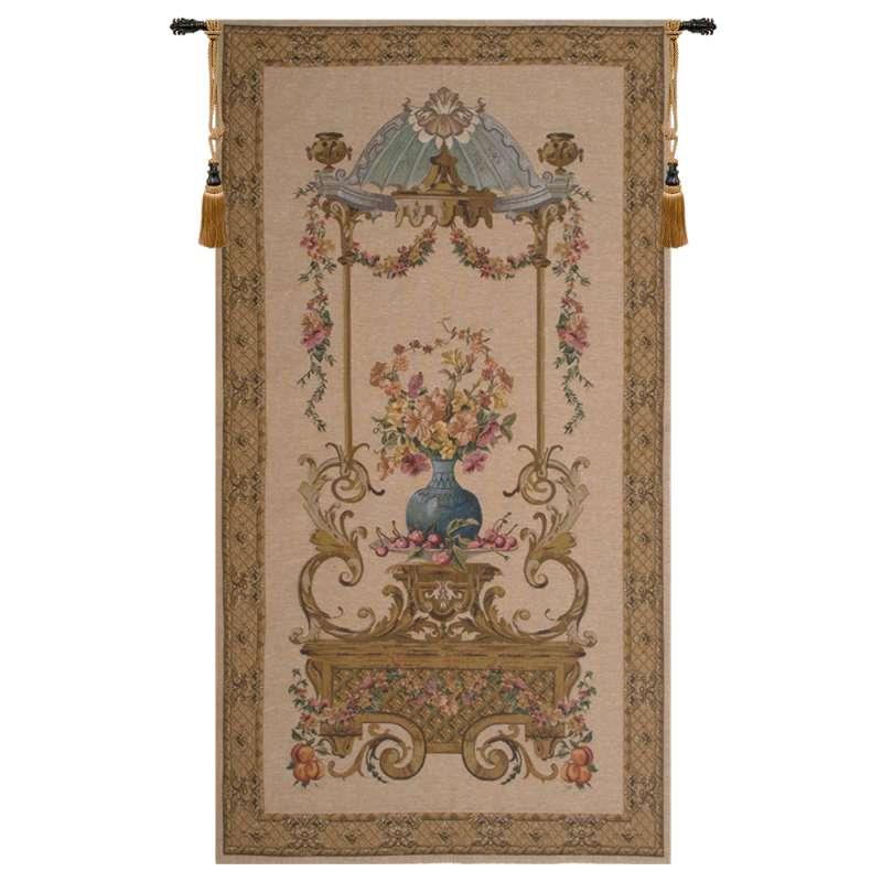 Floral Vase in a Gazebo European Tapestry