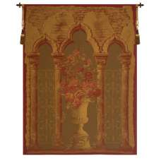 Rose Colonnade Red European Tapestry