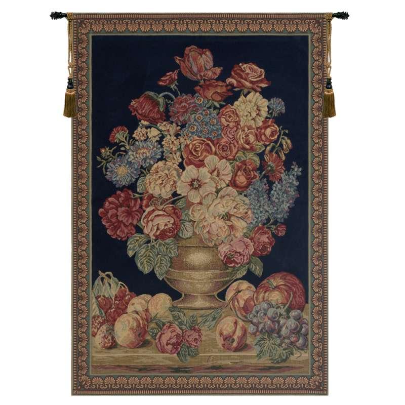 Vase on Blue Mini European Tapestry