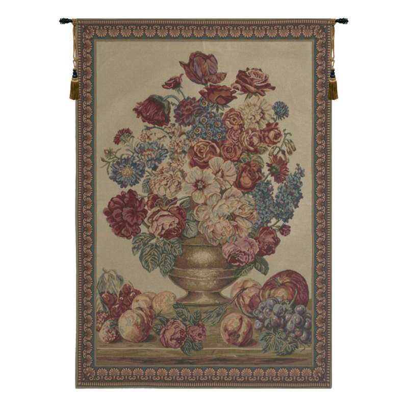Vase on Beige Mini European Tapestry