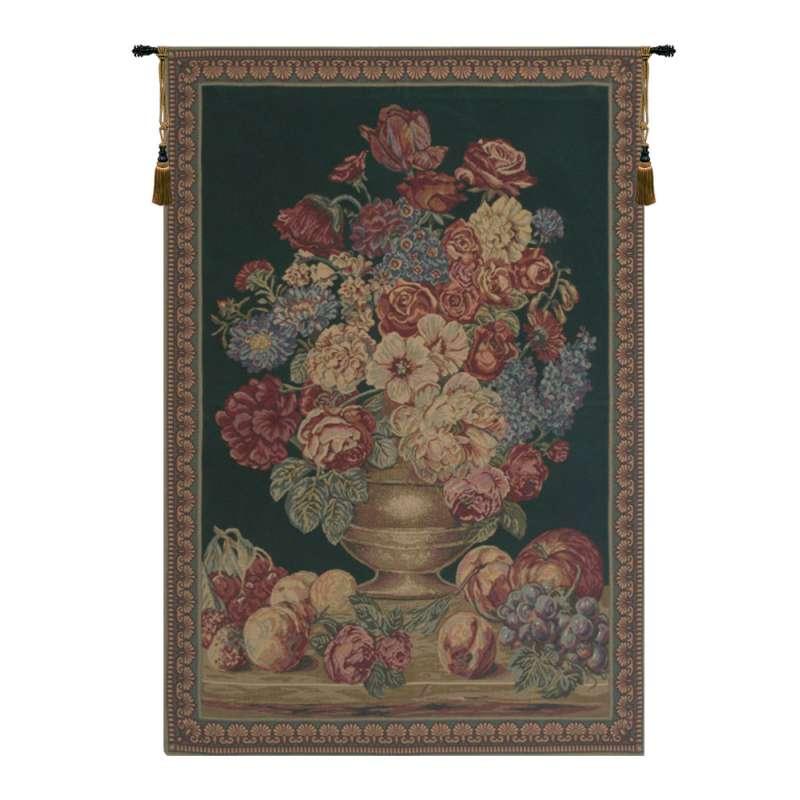 Vase on Green Mini European Tapestry