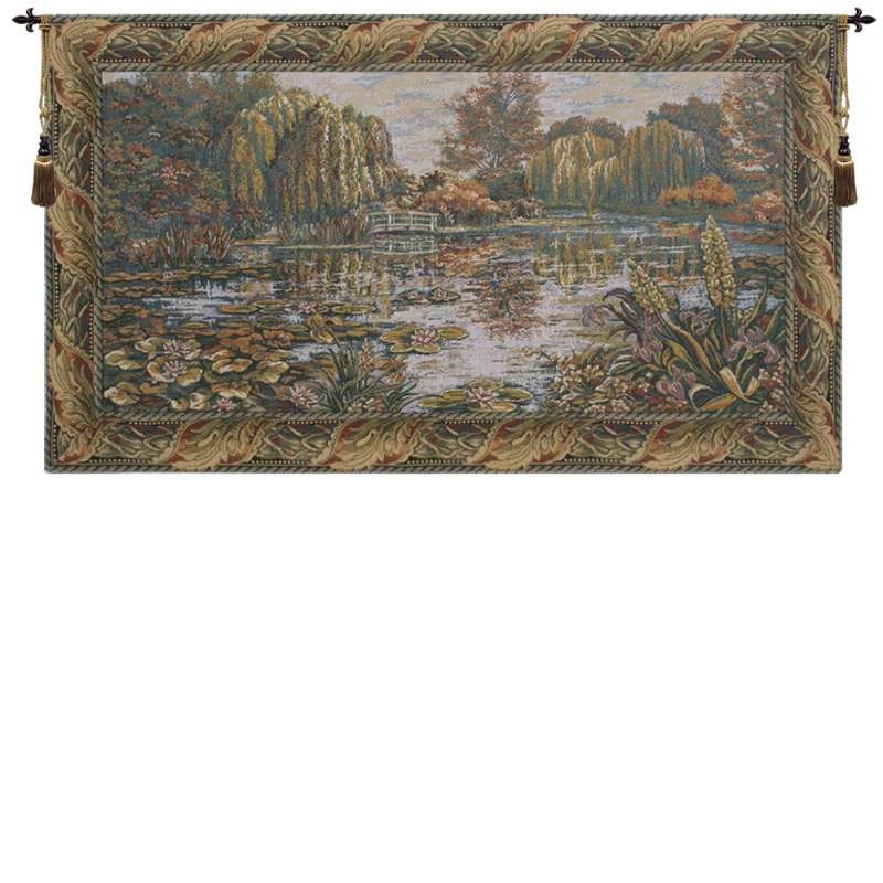 Giverny with Acantha Leaf Border European Tapestry