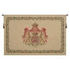 Lion Crest Beige Medium European Tapestry