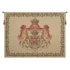 Lion Crest Beige Large European Tapestry