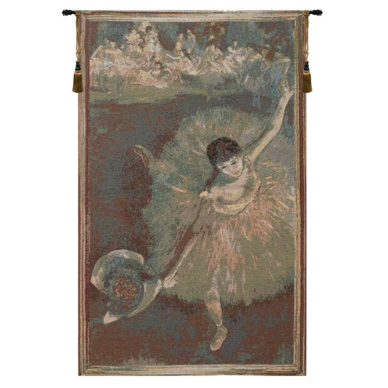 Ballet Dancer in Green European Tapestry