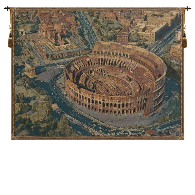 The Coliseum Rome Italian Tapestry Wall Hanging