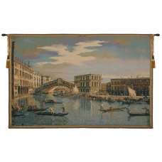 The Rialto Bridge Grand Canal  Italian Tapestry Wall Hanging