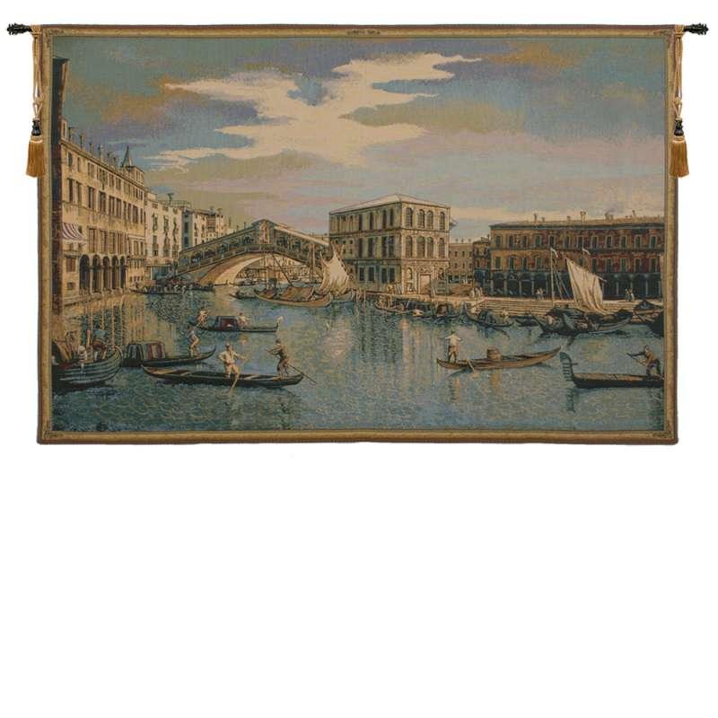 The Rialto Bridge Grand Canal  Italian Tapestry Wall Hanging