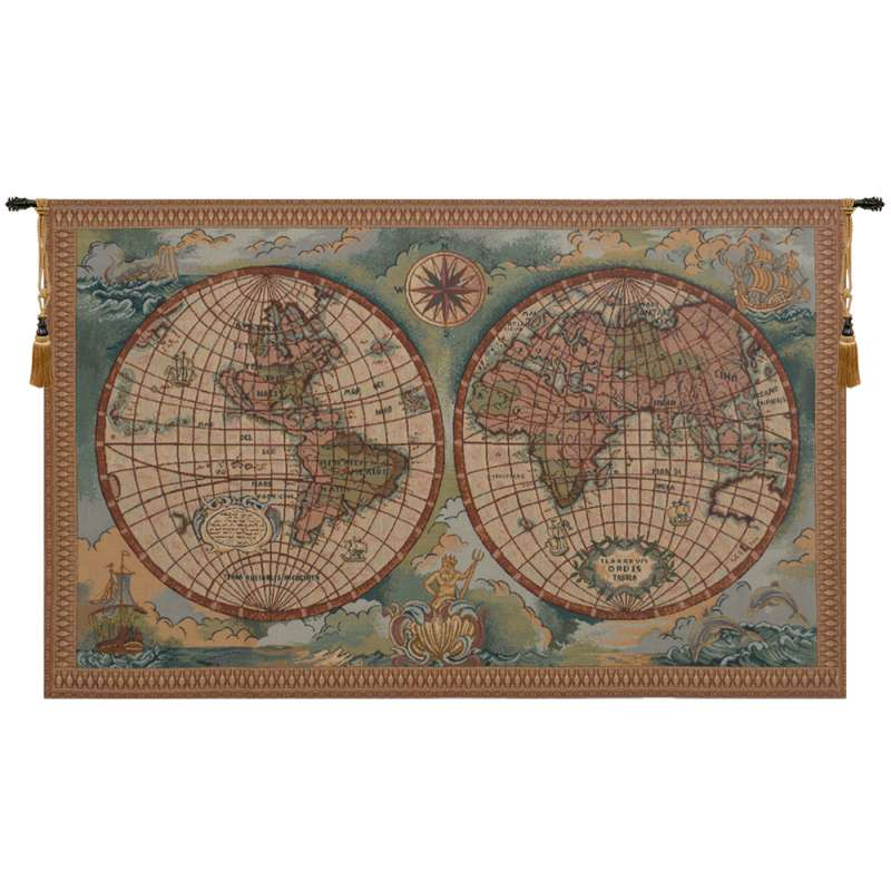 Antique Map I Italian Tapestry
