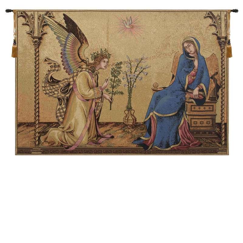 Annunciazione Tra I Santi Ansano E Margherita Italian Tapestry Wall Hanging