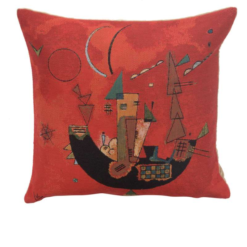 Kandinsky's Mit und Gegen European Cushion Cover