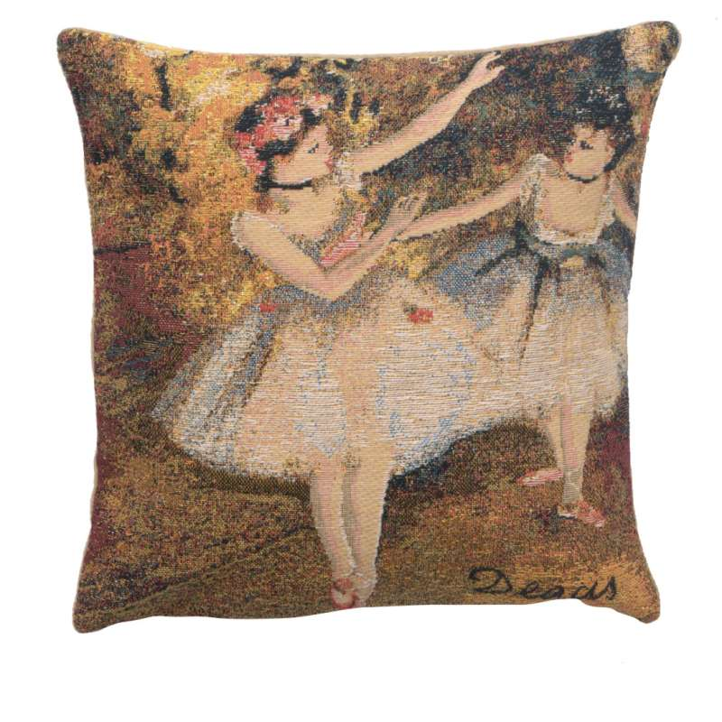 Degas Deux Dansiuses Small European Cushion Cover