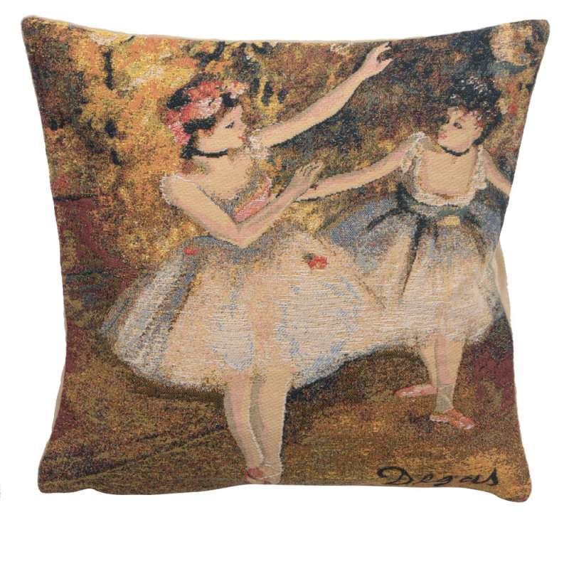 Degas Deux Dansiuses Large European Cushion Cover