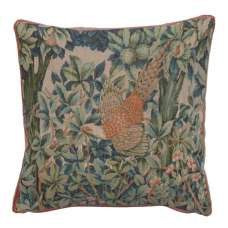 A Pheasant In A Forest Small Decorative Tapestry Pillow