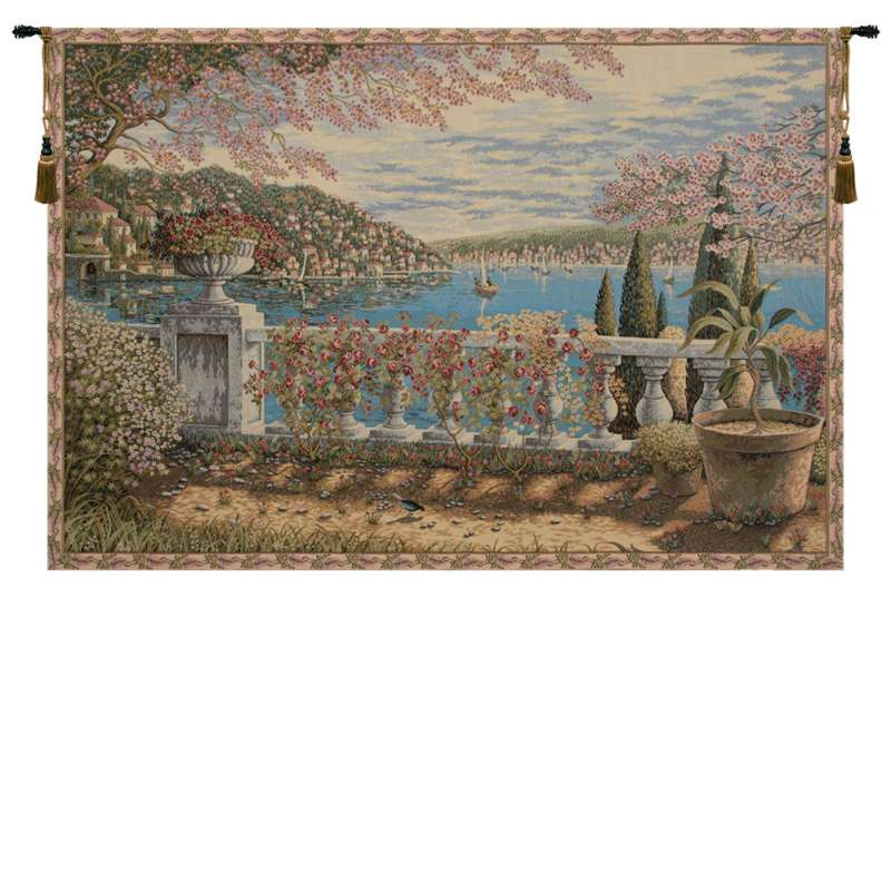 Giardino Sul Lago Italian Tapestry Wall Hanging