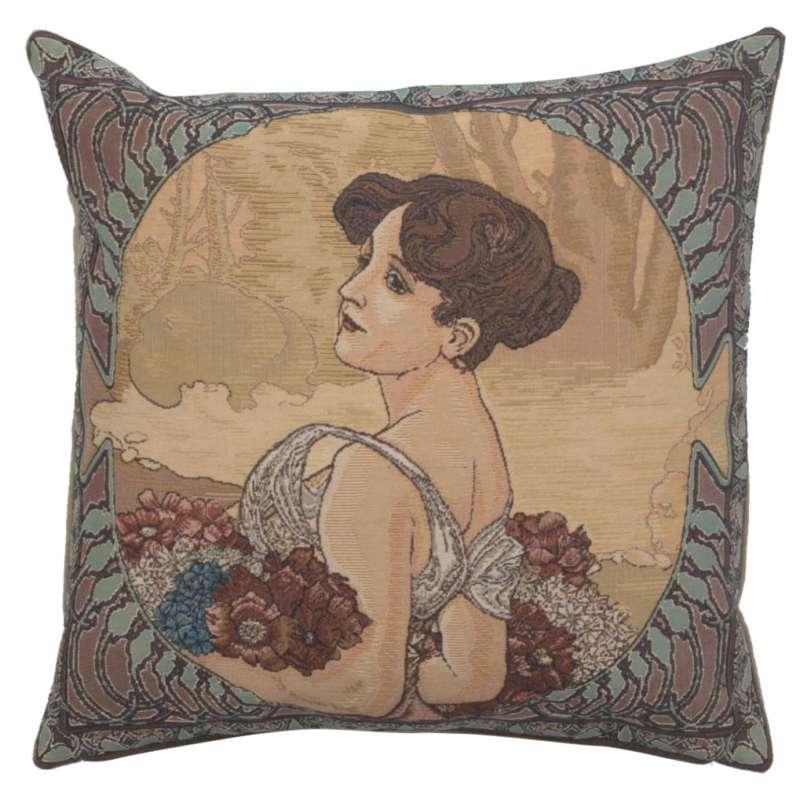 Mucha Summer II Old Style European Cushion Cover