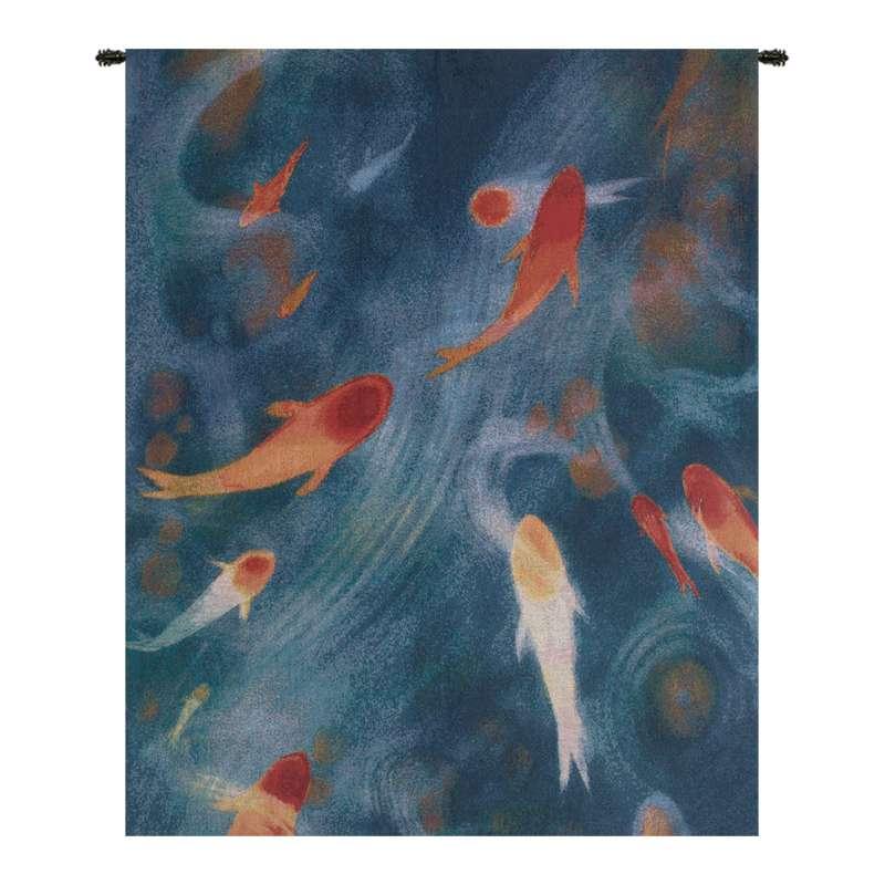 Koi Pond Small Tapestry Wall Art