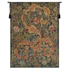 Acanthe Green Medium French Tapestry Wall Hanging