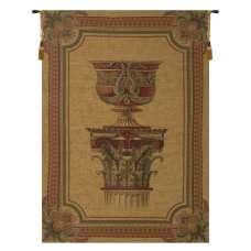 Urn on Pillar Gold Large European Tapestry
