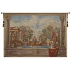 Lavish Fountain European Tapestry