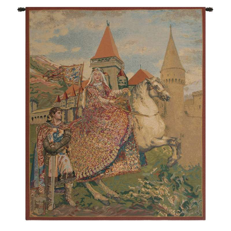Sir Lancelot and Guinevere Belgian Tapestry