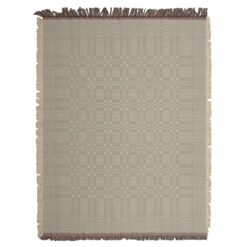 Two Sided Square Pattern Tapestry Throw