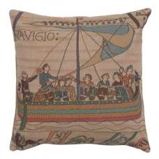 Bayeux The Boat Large French Tapestry Cushion