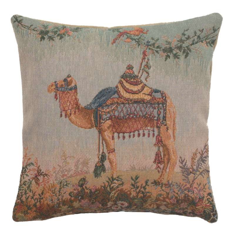 Camel Small French Tapestry Cushion