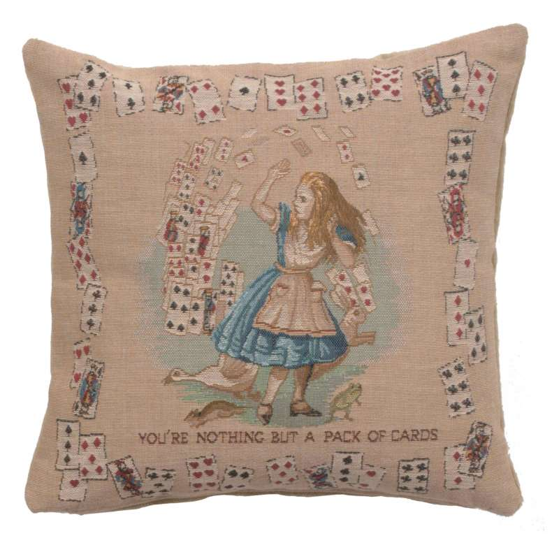 The Pack of Cards Decorative Tapestry Pillow