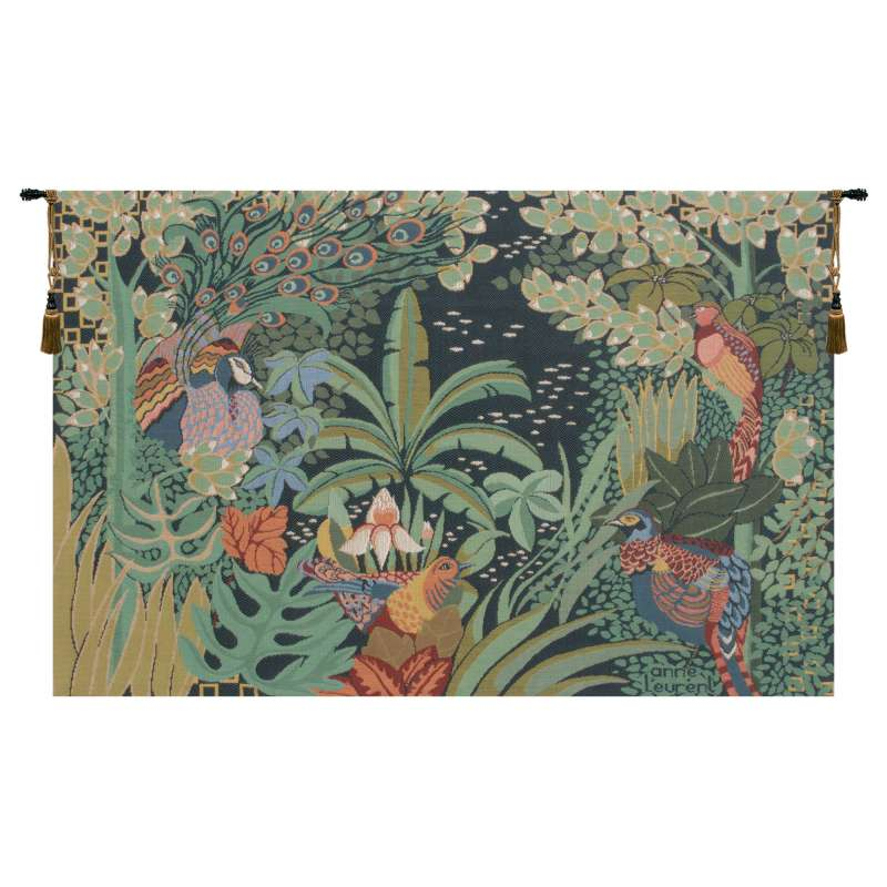 Jungle and Four Birds French Tapestry