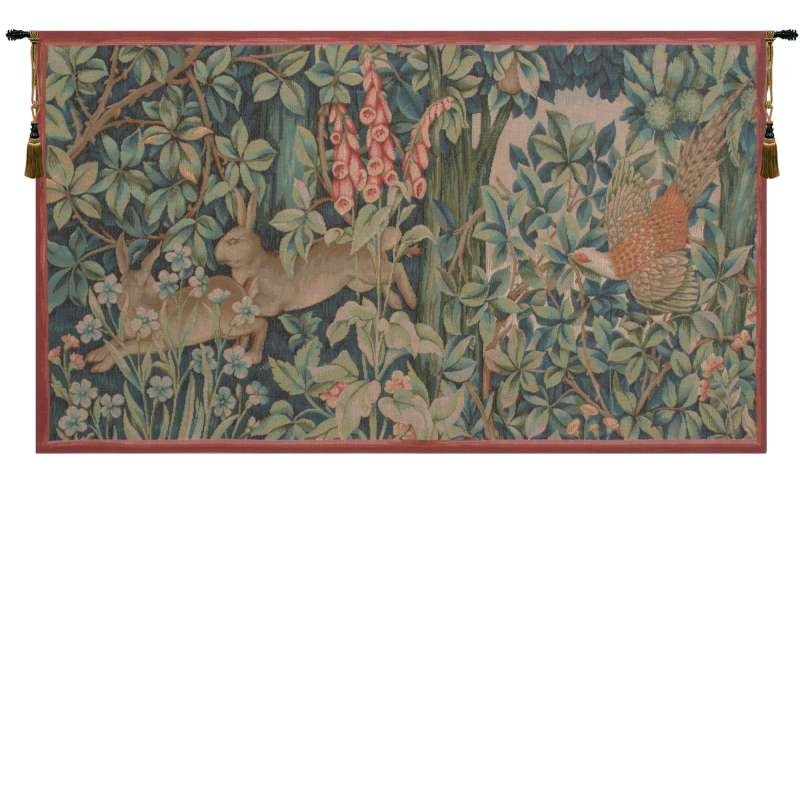 Hare and Pheasant French Tapestry Wall Hanging