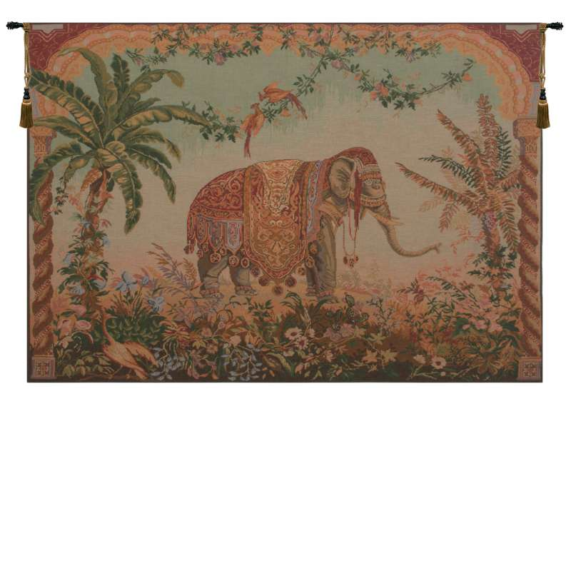 Royal Elephant Large French Tapestry