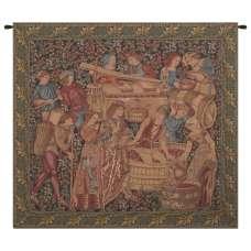 Antique Vendange Left Panel European Tapestry