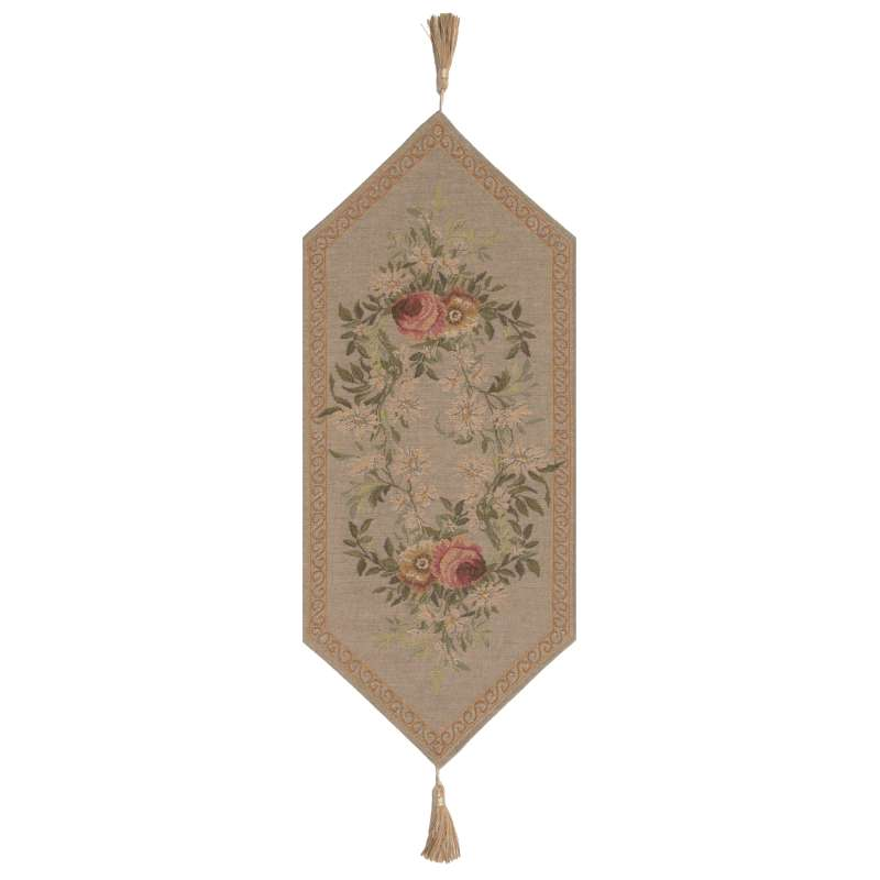Aubusson Light I Small French Tapestry Table Runner