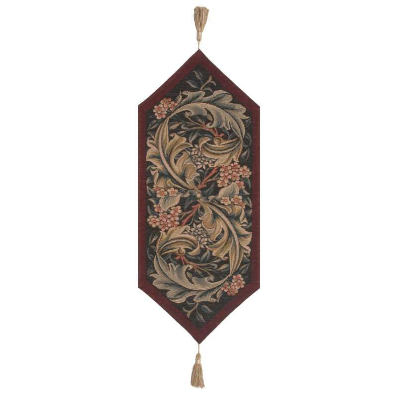 William Morris Red Small French Tapestry Table Runner