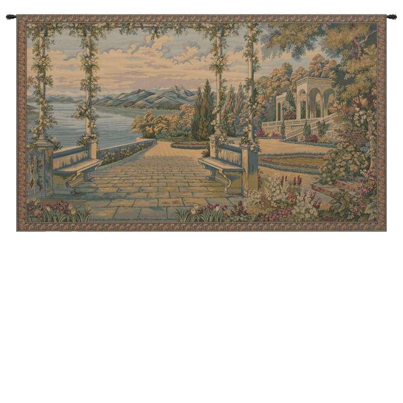 Lago Di Como II Italian Tapestry Wall Hanging