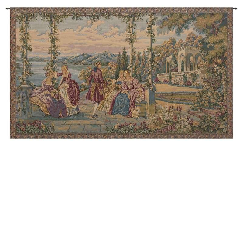 Dame e Lago Italian Tapestry Wall Hanging