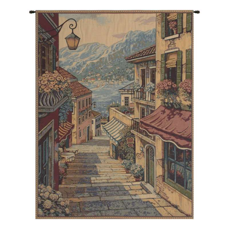 Bellagio Scalinata Italian Tapestry Wall Hanging