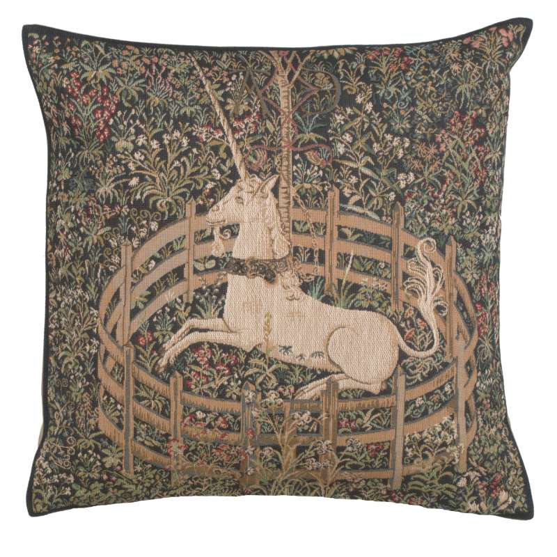 The Unicorn In Captivity Decorative Tapestry Pillow