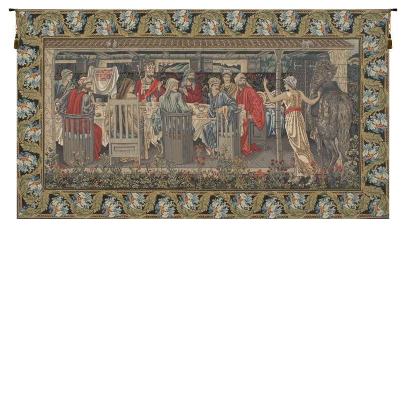 The Round Table With Border European Tapestry