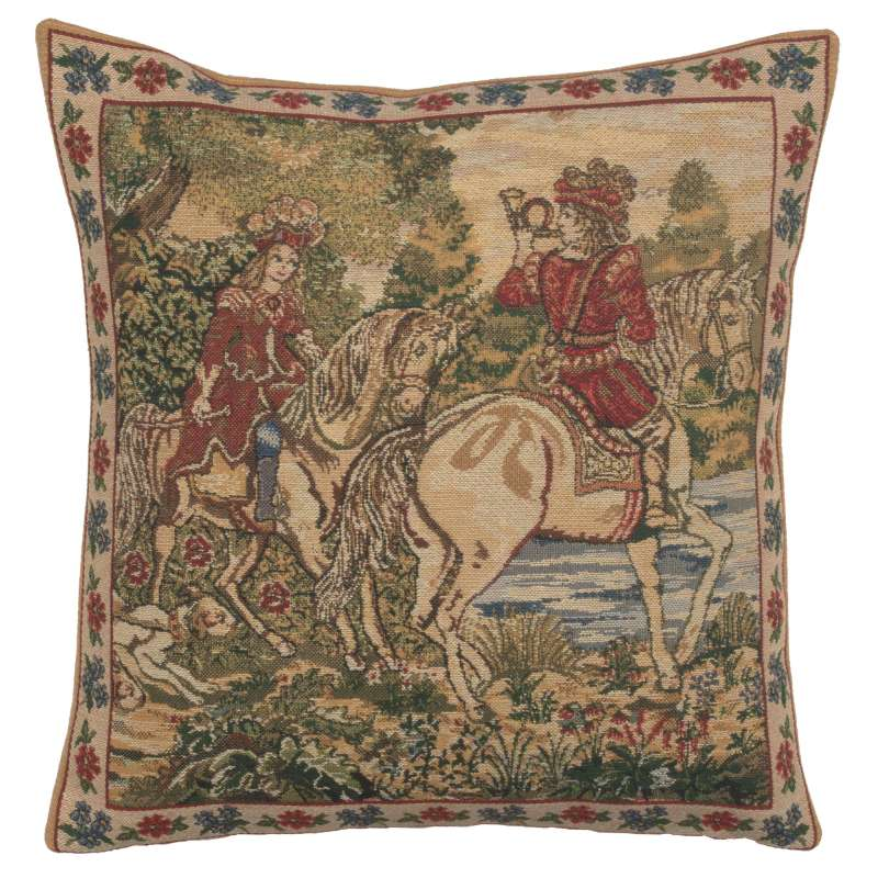 The Noble Hunt Belgian Cushion Cover