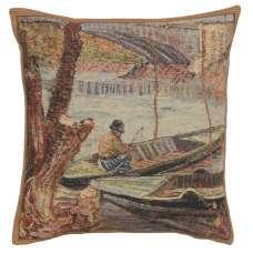 Peche au Printemps Belgian Cushion Cover