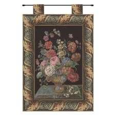 Flower Basket Black European Tapestry Wall Hanging