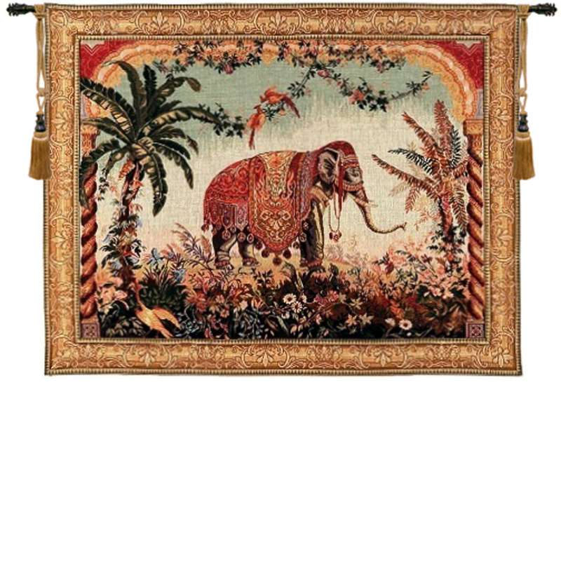 The Elephant Large with Border French Tapestry