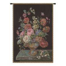 Flower Vase Black European Tapestry